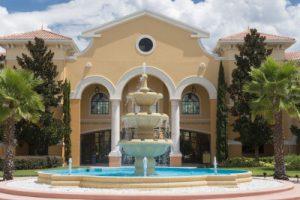 Image of Rosen College fountain